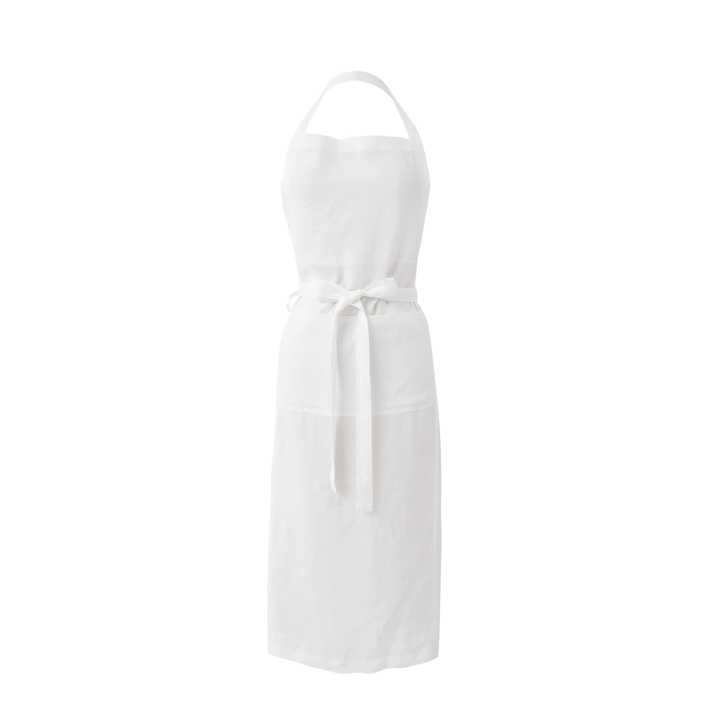 plain apron white