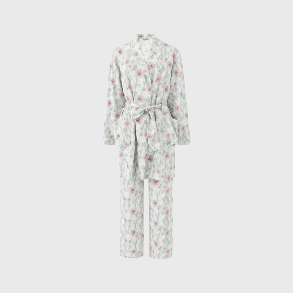 Silk Printed Pajama Set