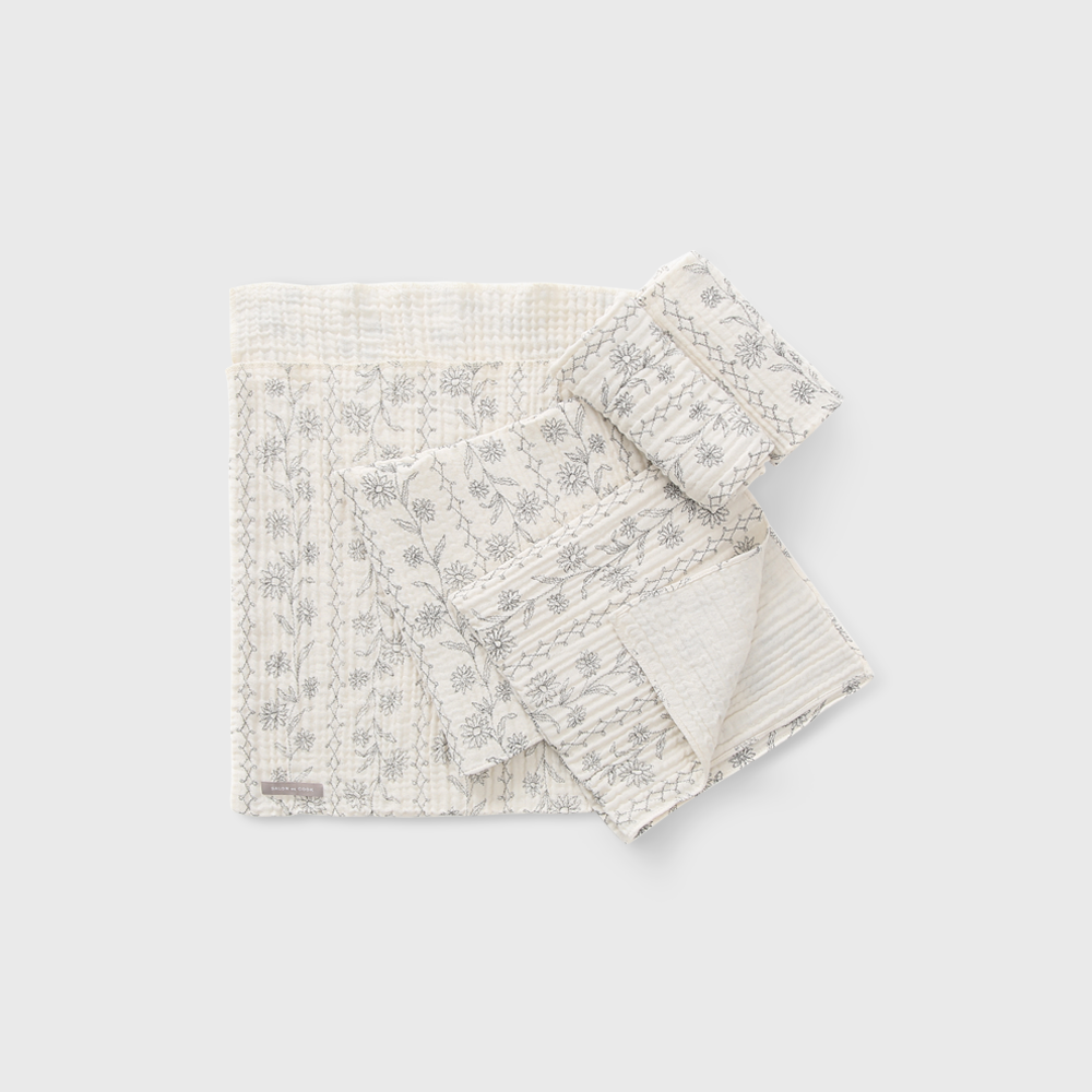 Printed Cotton Dishcloth set 2종